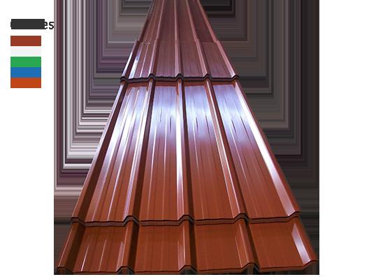 Lámina Estructural Prepintada color Terracota